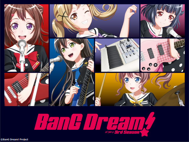 『BanG Dream! 3rd Season』キービジュアル(C)BanG Dream! Project(C)Craft Egg Inc.(C)bushiroad All Rights Reserved.