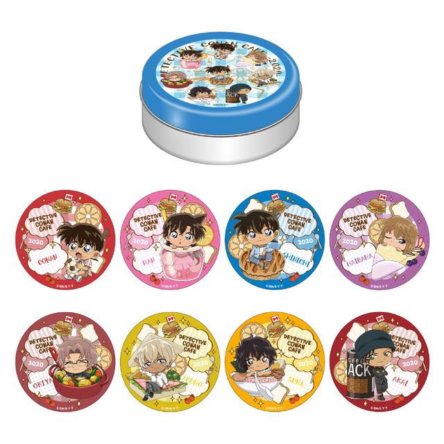 缶入りチョコレート(ランダムコースター8種)1,200円(税抜)