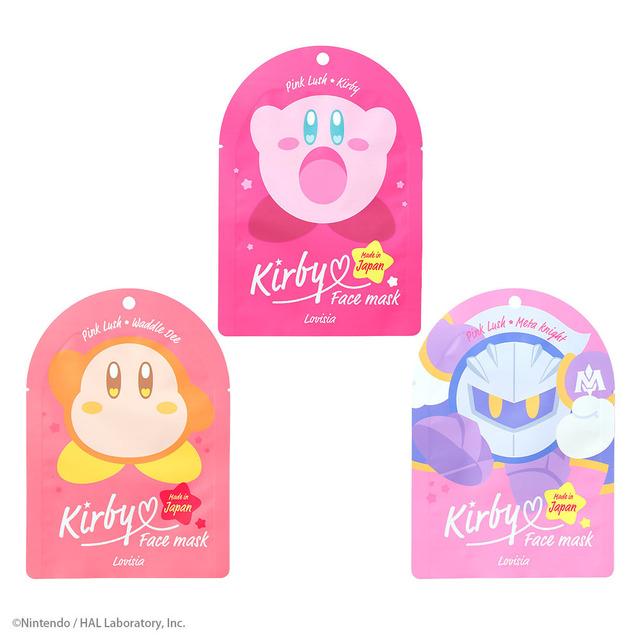 「星のカービィ フェイスマスク」各430円(税抜)(C)Nintendo / HAL Laboratory, Inc. KB20-P2210