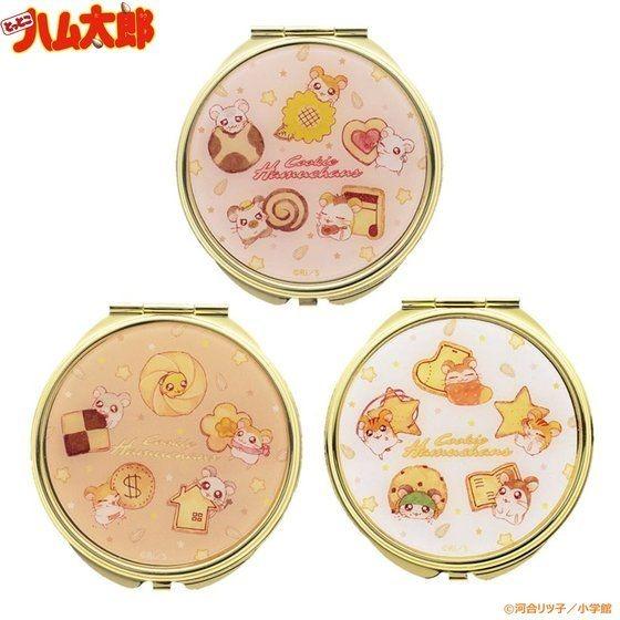 「ハム太郎 クッキー缶デザイン ゴールドミラー」1,980円(税込)(C)河合リツ子/小学館