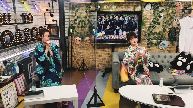 『声優と夜あそび 水【小松未可子×上坂すみれ】#10』カット(c)AbemaTV,Inc.