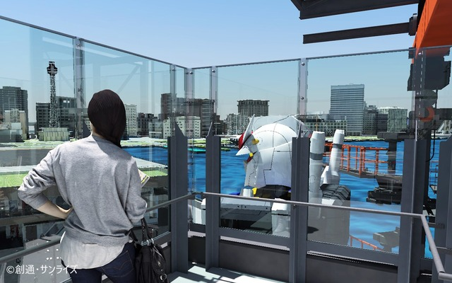 「GUNDAM FACTORY YOKOHAMA」GUNDAM DOCK TOWER(C)創通・サンライズ