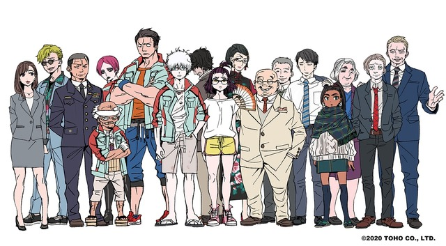 『ゴジラ S.P <シンギュラポイント>』加藤和恵 キャラクターデザイン原案絵(C)2020 TOHO CO., LTD.
