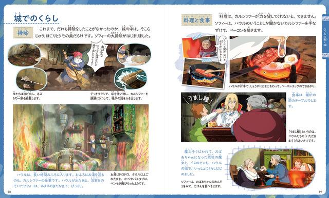 『スタジオジブリのいろんなくらし』1,800円(税別)「ハウルの動く城」(C)2004 Studio Ghibli・NDDMT