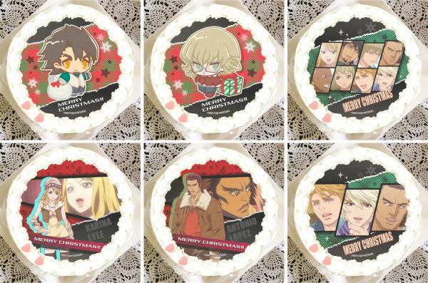 「『TIGER & BUNNY』クリスマスプリケーキ」4,980円(税別)(C)BNP/T&B PARTNERS