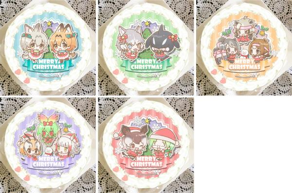 「『けものフレンズ』クリスマスプリケーキ」4,980円(税別)(C)けものフレンズプロジェクト