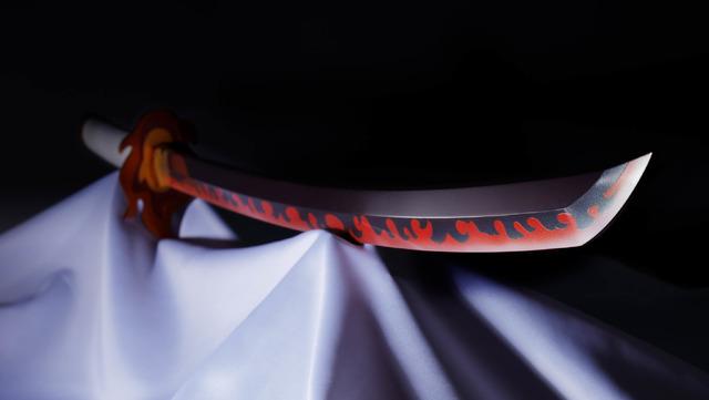 「PROPLICA 日輪刀(煉獄杏寿郎)」11,000円(税込)(C)吾峠呼世晴/集英社・アニプレックス・ufotable