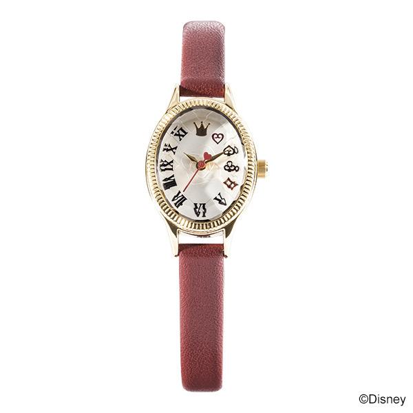 『ディズニーツイステッドワンダーランド』デザイン腕時計 ハーツラビュル寮デザイン各15,180円(税込)(C)Disney