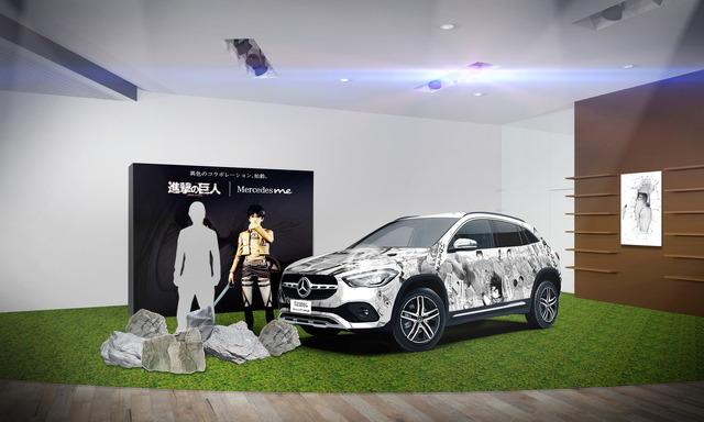 「進撃の巨人   Mercedes meコラボレーション」フォトスポット(C)諫山創/講談社