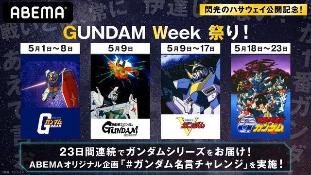 「GUNDAM Week 祭り」(C)創通・サンライズ