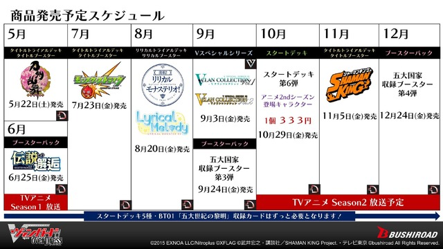 (C)武井宏之・講談社/SHAMAN KING Project・テレビ東京 (C)bushiroad All Rights Reserved.(C)2015 EXNOA LLC/Nitroplus (C)bushiroad All Rights Reserved.