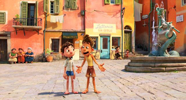 『あの夏のルカ』ルカとアルベルト(C)2021 Disney/Pixar. All Rights Reserved.
