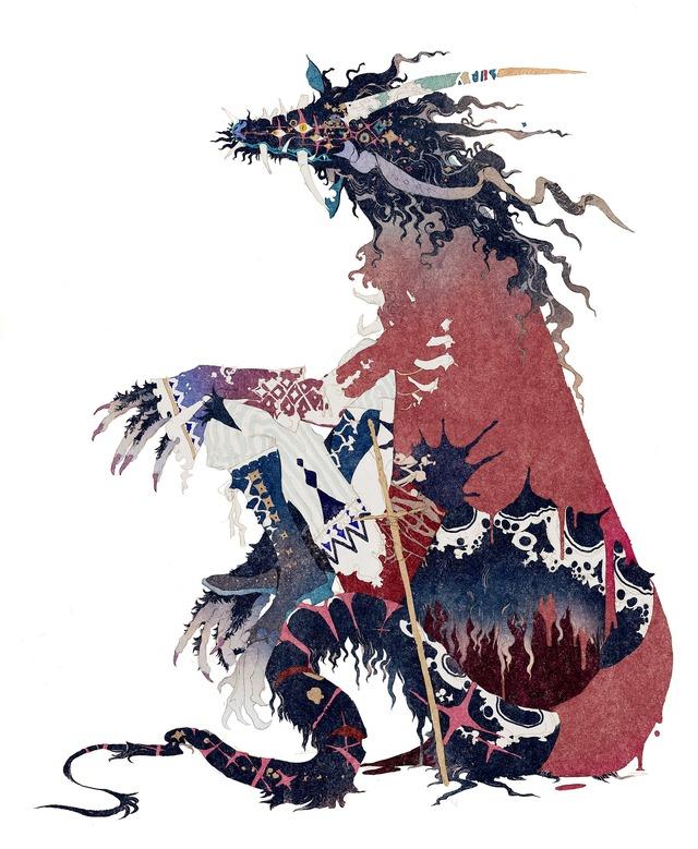 『竜とそばかすの姫』秋屋蜻一による竜のキャラクターデザイン(C)2021 スタジオ地図