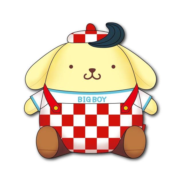 「ビッグボーイ×ポムポムプリン」キャンペーン オリジナルぬいぐるみ(C)2021 SANRIO CO., LTD APPROVAL NO.L618308
